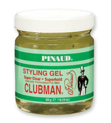 CLUBMAN STRONG HOLD STYLING GEL 16 OZ