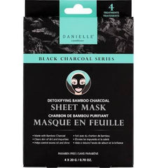 Danielle Detoxifying Bamboo Charcoal Sheet Mask 4 Pack