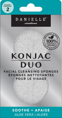 Danielle Konjac Duo Facial Cleansing Sponges-Aloe