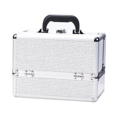 Danielle Make-Up Case-Silver Crystal