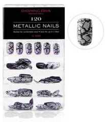 DASHING DIVA METALLIC NAILS 120 HEAVY METAL