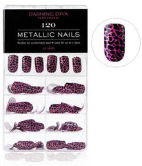 DASHING DIVA METALLIC NAILS 120 PURRFECTLY PINK