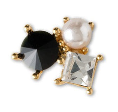 Dashing Diva Press-On Charms Gold Onyx