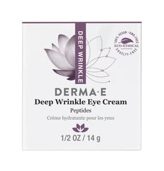 DERMA E DEEP WRINKLE REVERSE EYE CREAM WITH PEPTIDES PLUS .5 OZ