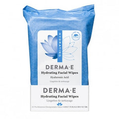 DERMA E HYDRATING FACIAL WIPES 25 WIPES