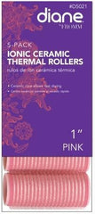 Diane Ionic Ceramic Thermal Rollers 1 in Pink