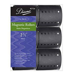 DIANE MAGNETIC ROLLER BLACK 2 1/2 IN.-6CT.