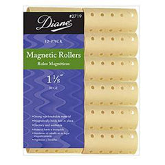DIANE MAGNETIC ROLLERS BEIGE 1 1/8 IN.-12CT.