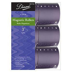 DIANE MAGNETIC ROLLERS PURPLE 6CT 3 IN.