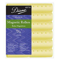 DIANE MAGNETIC ROLLERS YELLOW 15/16 IN.-12CT.