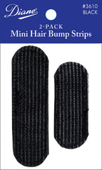 DIANE MINI HAIR BUMP STRIPS BLACK 2 PACK