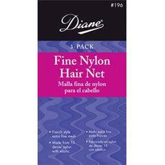 DIANE NYLON HAIR NET-LT BROWN 3 CT