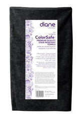 DIANE SALON TOWEL 12 PACK- BLACK 16 IN. X 27 IN. 25106