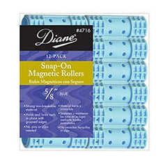 DIANE SNAP-ON MAG ROLLERS BLUE 5/8 IN.-12CT.