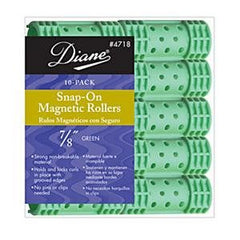 DIANE SNAP-ON MAG ROLLERS GREEN 7/8 IN.-10CT.