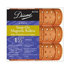 DIANE SNAP-ON MAG ROLLERS ORANGE 1 1/2 IN.-6C
