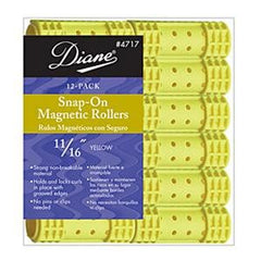 DIANE SNAP-ON MAG ROLLERS YELLOW 11/16 IN.-12