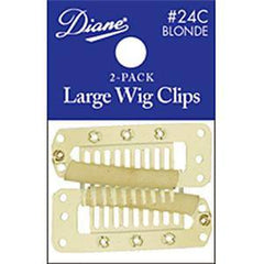 DIANE WIG CLIPS-LARGE BLONDE 2-PACK