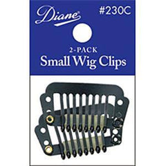 DIANE WIG CLIPS-SMALL BLACK 2 PACK