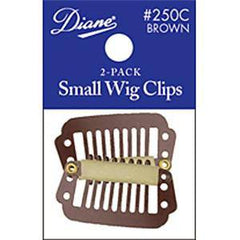 DIANE WIG CLIPS-SMALL BROWN 2-PACK