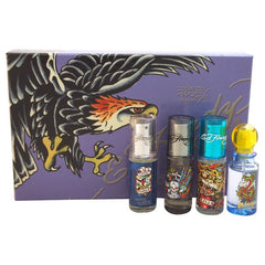 Ed Hardy Men's Deluxe Mini Spray Collection 4 Piece