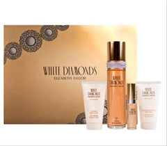 ELIZABETH TAYLOR WHITE DIAMONDS WOMENS GIFT SET 4 PIECE