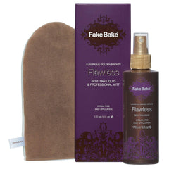 FAKE BAKE FLAWLESS SELF-TAN LIQUID AND PROFESSIONAL MITT 6 OZ