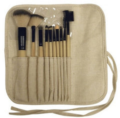 FANTA SEA 10 PIECE BAMBOO COSMETICS BRUSH SET