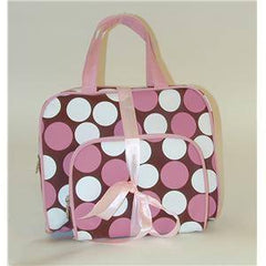 FUTURE 2PC BAG SET DOTS BRN/PINK CB502