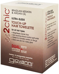 Giovanni 2Chic Ultra-Sleek Touch-Up Hair Towelettes 10 Pack