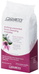 Giovanni Soothing Unscented Facial Cleansing Towelettes 30 Pack