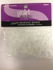 GOLD MAGIC CLEAR ELASTIC BRAIDING BANDS 250 COUNT