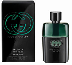 GUCCI GUILTY BLACK MEN`S POUR HOMME EAU DE TOILETTE SPRAY  1.6 oz