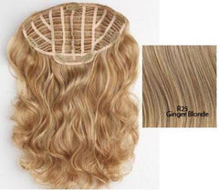 HAIR U WEAR 23 INCH WAVY EXTENSION R25 GINGER BLONDE