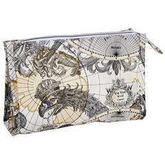 Harry Koenig Cosmetic Bag With Map Pattern