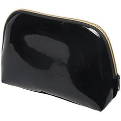 Harry Koenig Large Black Patent Cosmetic Bag