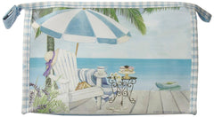 Harry Koenig Large Cosmetic Bag Beach Scene