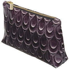 Harry Koenig Large Purple Scallop Cosmetic Bag