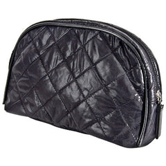 HARRY KOENIG MEDIUM BLACK COSMETIC BAG