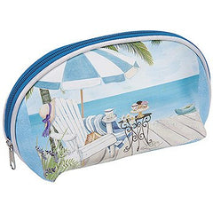 Harry Koenig Medium Cosmetic Bag Beach Scene
