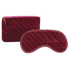 Harry Koenig Quilted Cosmetic Bag With Eye Mask
