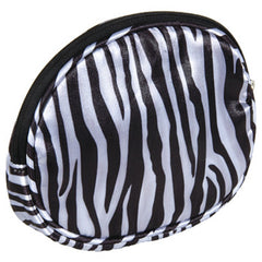 HARRY KOENIG ZEBRA OVAL COSMETIC BAG