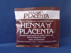 HASK HENNA PLACENTA PAC-REGULAR 2 OZ. 338-115