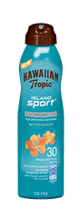 Hawaiian Tropic Clear Spray Island Sport Light Tropical SPF30 6 oz