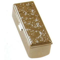 ILLUSIONS LIPSTICK HOLDER-EMB SHINY SLVR S-317