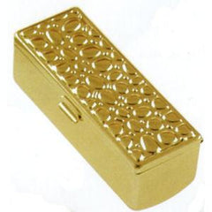 ILLUSIONS LIPSTICK HOLDER-EMBOSSED SHINY GOLD