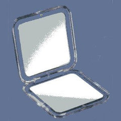 ILLUSIONS MIRROR 7X #312 ACRYLIC COMPACT 3 3/4 SQ