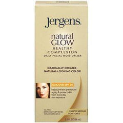 JERGENS NATURAL GLOW HEALTHY COMPLEXION FACE MOISTURIZER FAIR/MEDIUM 2 OZ