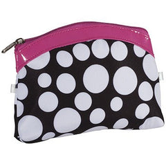 KINGSLEY BLACK AND WHITE DOTS COSMETIC BAG