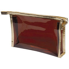 KINGSLEY CLEAR BRONZE LARGE COSMETIC BAG
